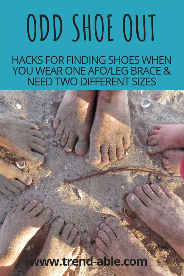 Disability Hack for buying fashionable shoes and boots when you wear one afo/leg brace or orthotic and need shoes in two different sizes.