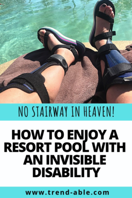 How to enjoy pool with invisible disability