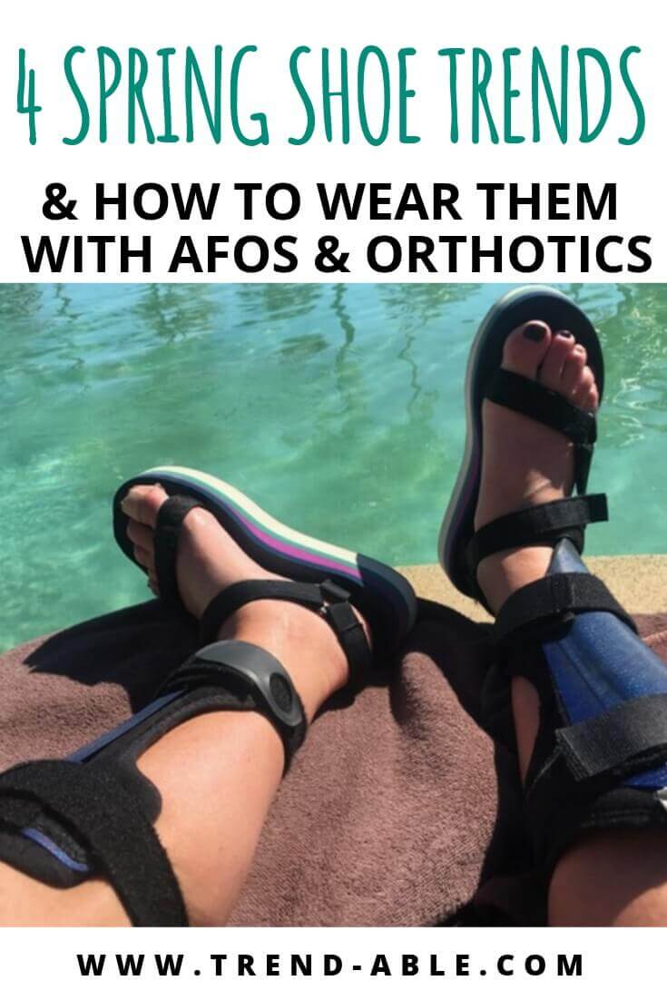 Sandals to wear with AFOs