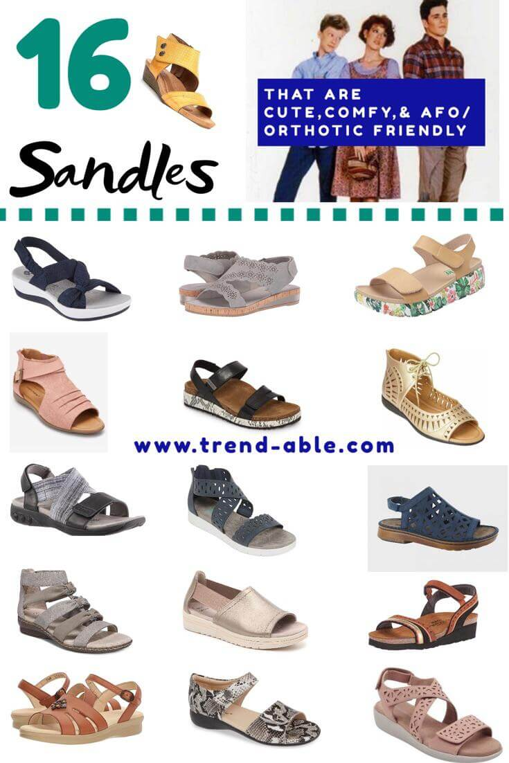 6300b43a7a What follows are my picks (not in any order) of the cutest afo and orthotic  friendly sandals this season. Click on the shoe image itself to see pricing  and ...