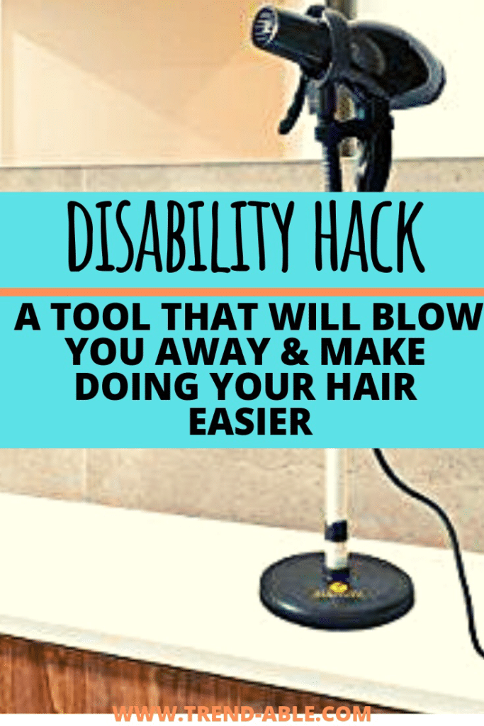 Blow dry your hair with this disability hack