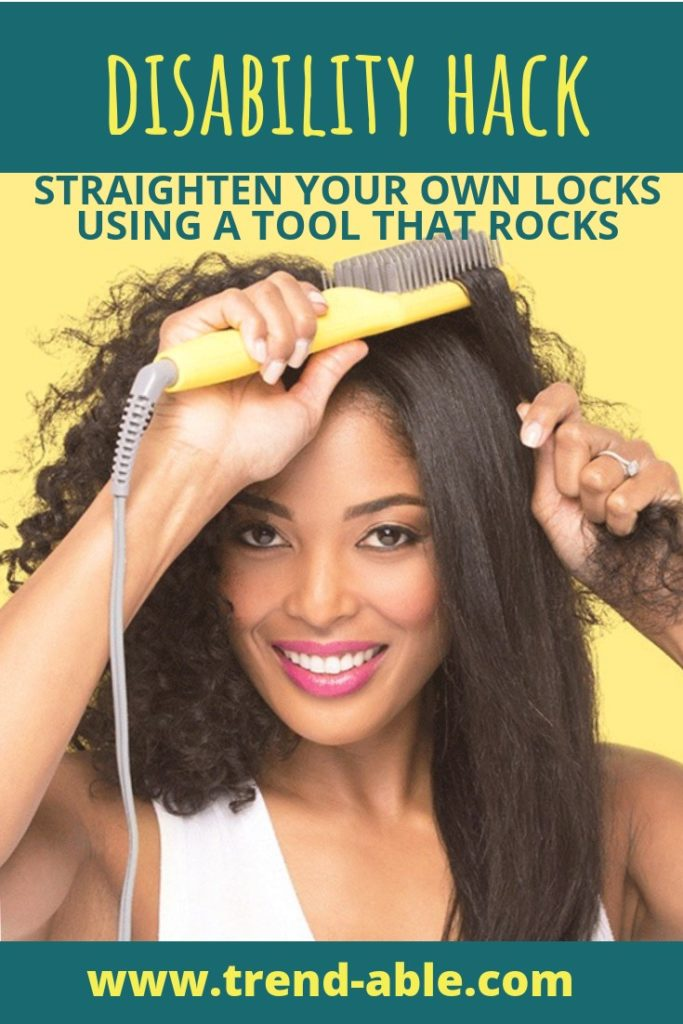 How to style and straighten your hair with disabilities like hand weakness and arthritis.
