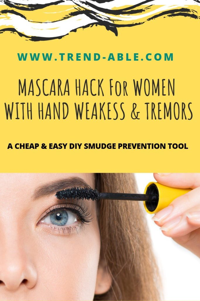 Mascara hack for those with hand weakness, CMT, Parkinson's, ms, tremors, arthritis & cerebral palsy.