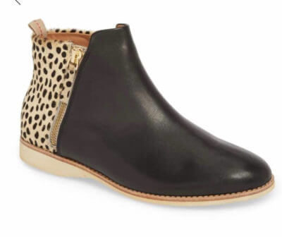 27f9c311d86 This might be my favorite bootie this season. I love the mixed fabrics and  great animal print. The zipper