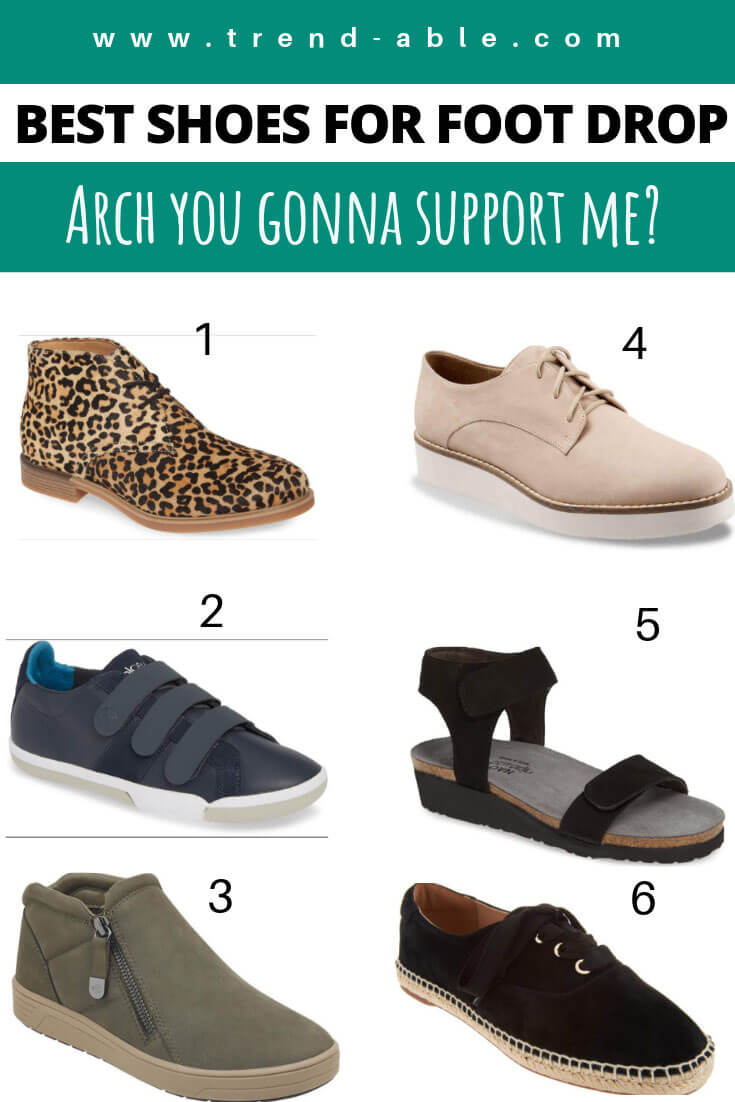 best stylish shoes for foot drop