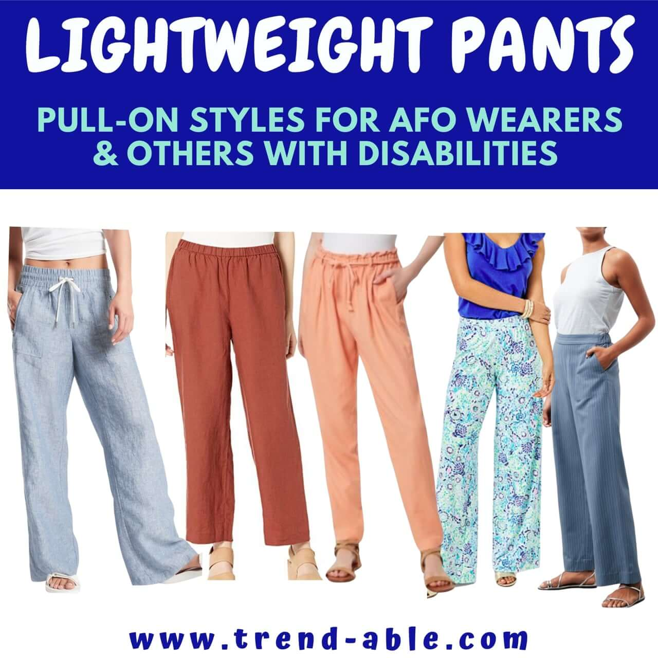 Top summer outfit ideas for people who wear afos and orthotics.